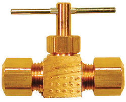 JMF  3/8 in. 3/8 in. Brass  Needle Valve