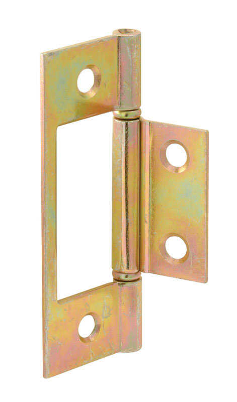 Prime-Line  3 in. L Brass-Plated  Door Hinge  2  Steel