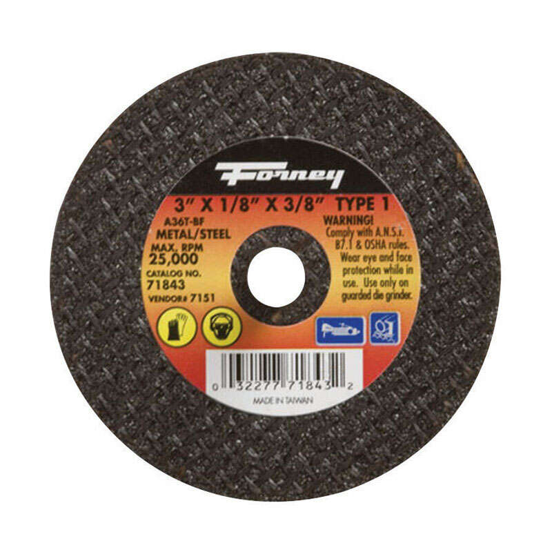 Forney  3 in. Dia. x 3/8 in.  Aluminum Oxide  Metal Cut-Off Wheel  1 pc.