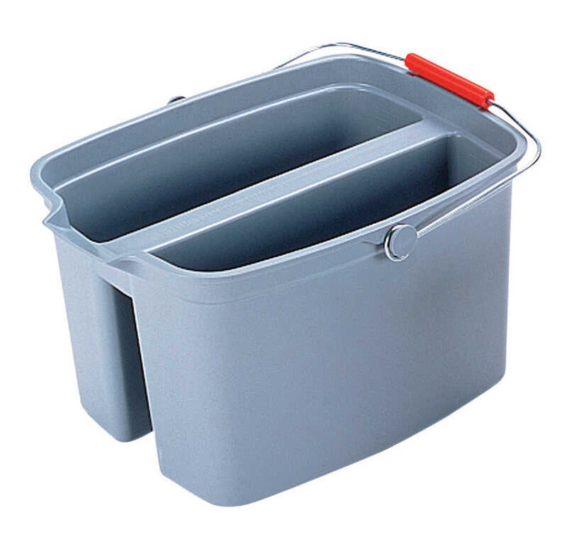 Rubbermaid Commercial  19 qt. Rectangular Double Pail  Gray
