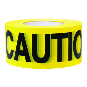 C.H. Hanson  3 in. W x 3 in. W x 1000 ft. L Caution  Plastic  Yellow  Barricade Tape
