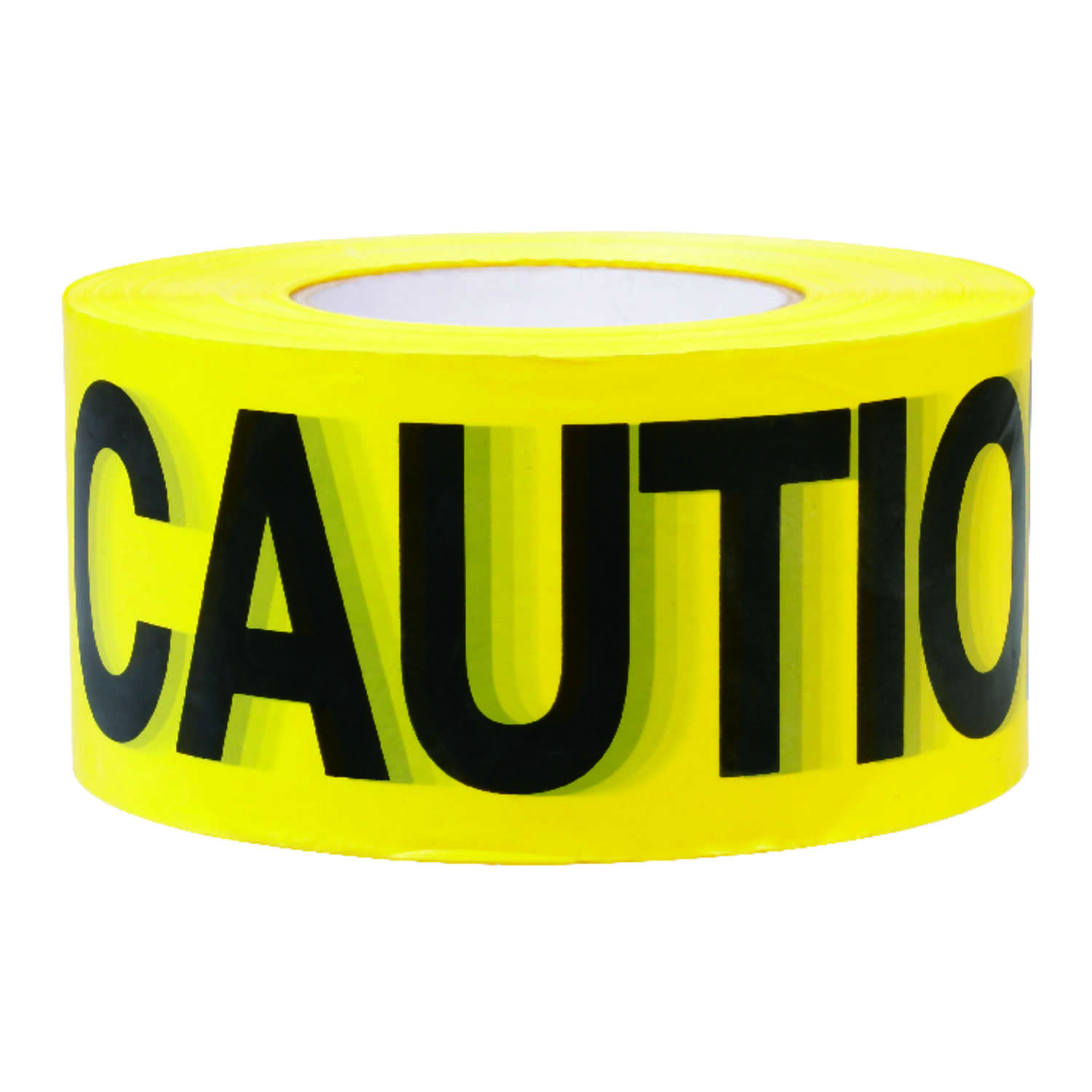 C.H. Hanson  3 in. W x 3 in. W x 1000 ft. L Plastic  Caution  Barricade Tape  Sub-Zero  Yellow
