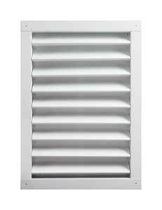 Master Flow  24 in. W x 30 in. L White  Aluminum  Wall Louver
