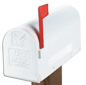 Gibraltar  Polymer  Post Mounted  Deluxe Polybox  Mailbox  9-9/16 in. H x 7-7/8 in. W x 19-3/8 in. L
