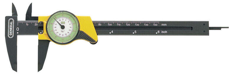 General Tools 6 in. L x 3-1/4 in. W Dial Caliper 1 pc.