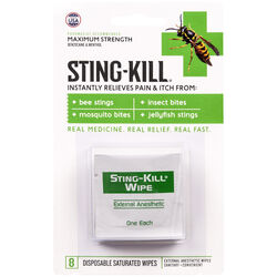 Sting Kill  Anesthetic Wipes  8 pk