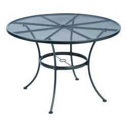 Living Accents Winston Round Black Steel Dining Table