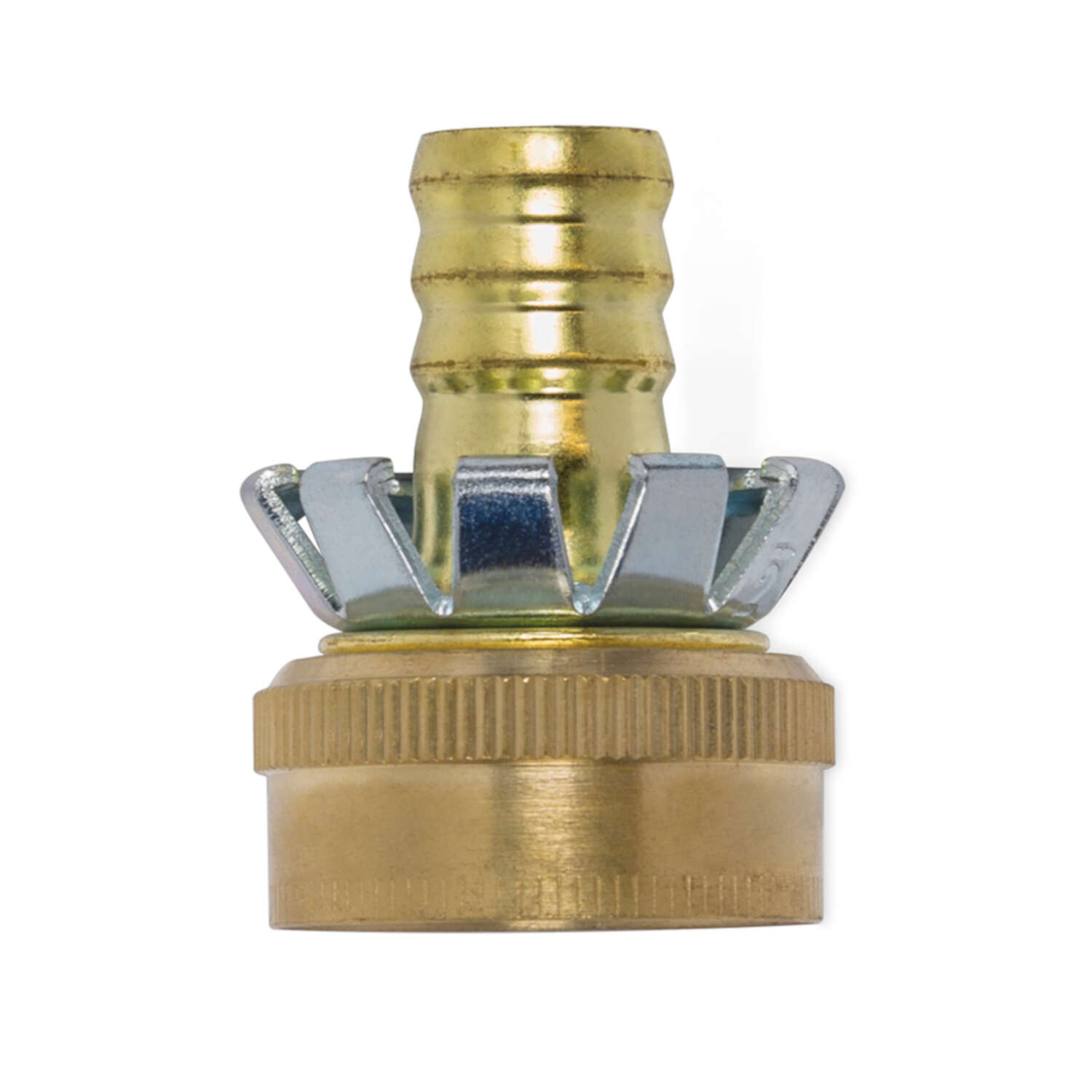 Gilmour  1/2 in. Brass  Threaded  Female  Clinch Hose Mender