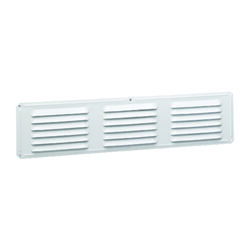 Air Vent  4 in. H x 16 in. L White  Aluminum  Undereave Vent