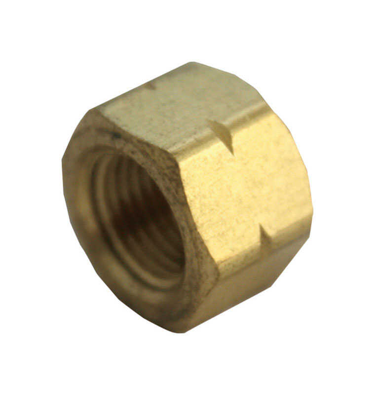 Ace  3/8 in. FPT   x 3/8 in. Dia. Compression  Compression  Yellow Brass  Cap