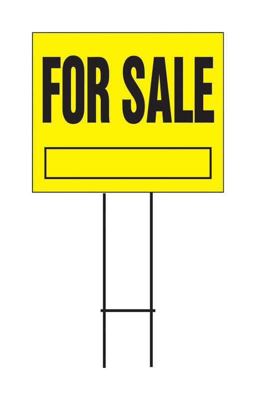 Hy-Ko  English  For Sale  Sign  Plastic  19 in. H x 24 in. W