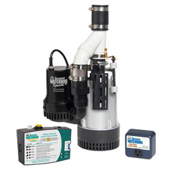 Basement Watchdog 1/2 hp 4,400 gph Aluminum Dual Reed AC Backup Sump Pump
