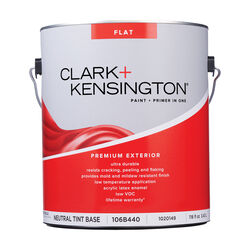 Clark+Kensington Flat Tint Base Neutral Base Premium Paint Exterior 1 gal.