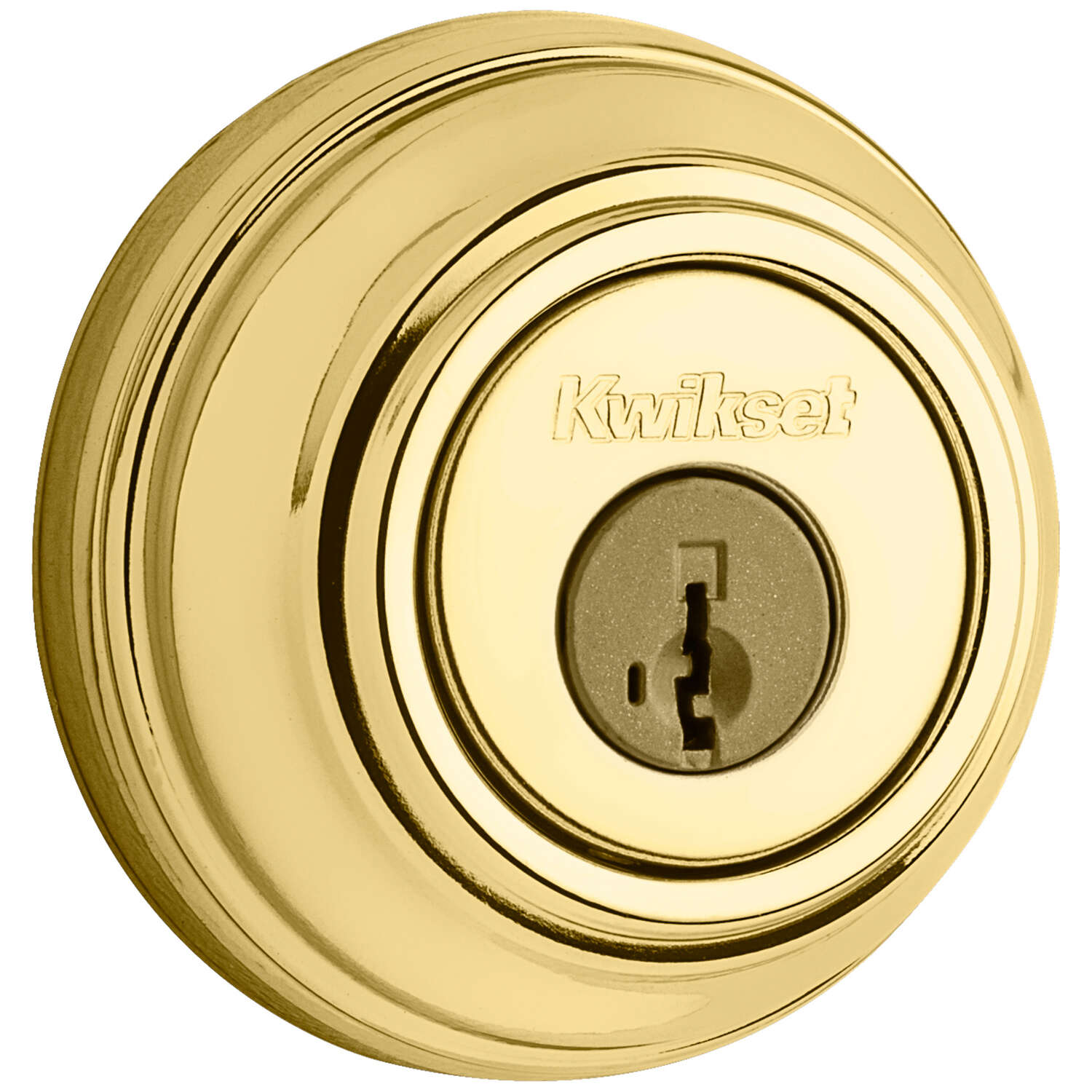 Kwikset SmartKey Polished Brass Metal Deadbolt