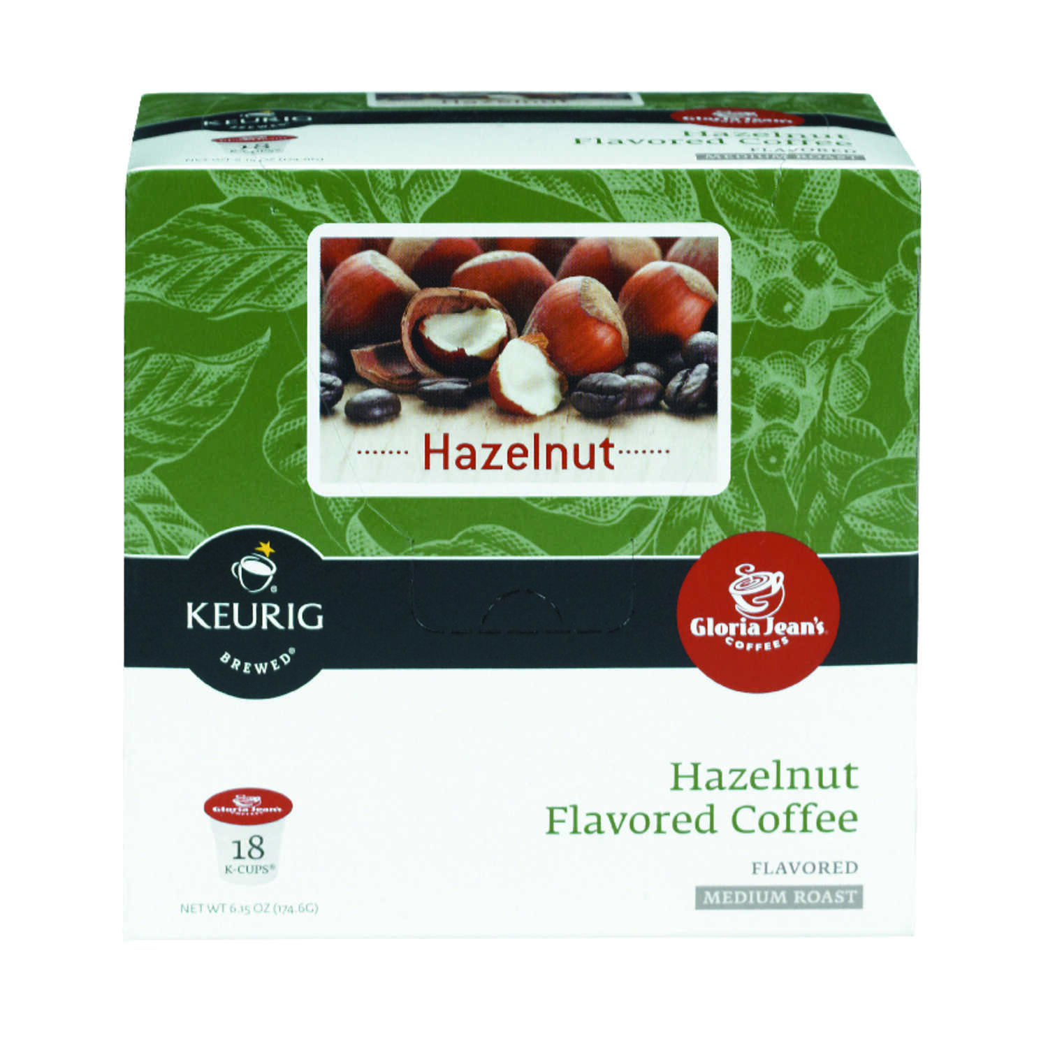 Keurig  Gloria Jeans  Hazelnut  Coffee K-Cups  18 pk