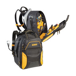 DeWalt  21.75 in. W x 17 in. H Ballistic Polyester  Backpack Tool Bag  33 pocket Black/Yellow  1 pc.