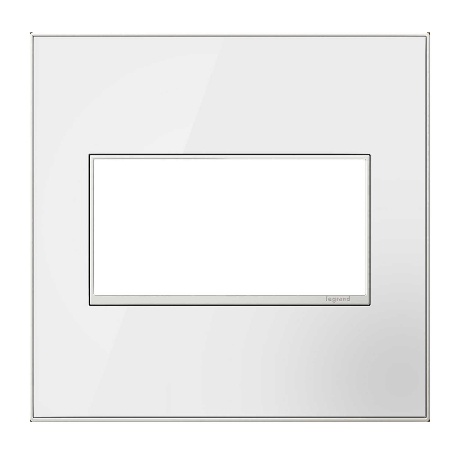 Legrand  Adorne  White  2 gang Thermoplastic Nylon  GFCI/Rocker  Wall Plate  1 pk