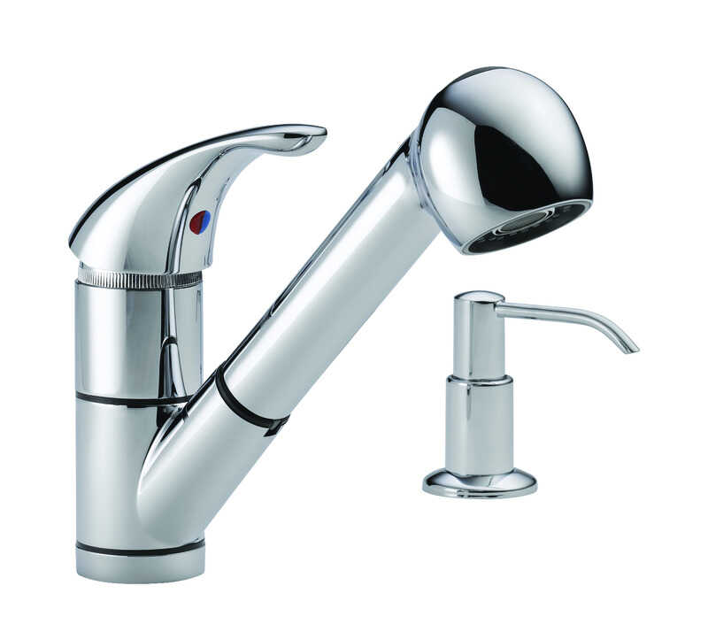 Peerless  Choice  One Handle  Chrome  Kitchen Faucet
