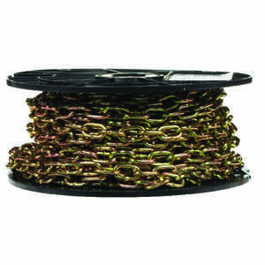 Campbell Chain  3 in. Straight Link  Carbon Steel  Machine Chain  9/64 in. Dia. x 50 ft. L
