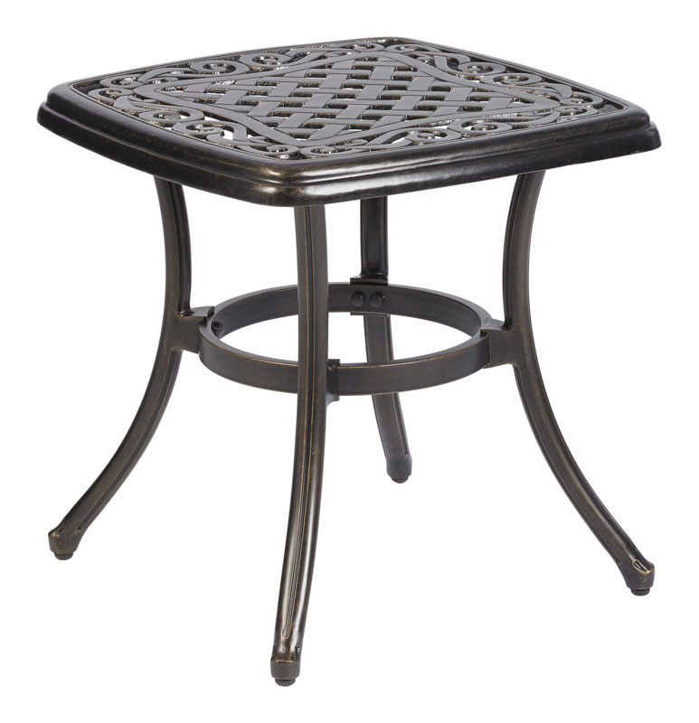 Living Accents  Brown  Carlisle  Square  End Table  Old World Bronze