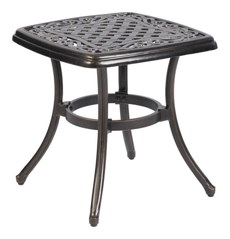 Living Accents  Carlisle  Brown  Square  Aluminum  End Table