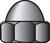 Hillman  5/16 in. Zinc-Plated  Steel  SAE  Acorn Nut  100 pk