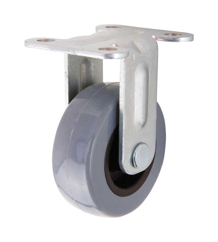 Shepherd  2 in. Dia. Polyurethane  Caster Wheel with Plate  88 lb. 1 pk
