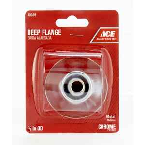 Ace  3/8 in. Metal  Deep Flange