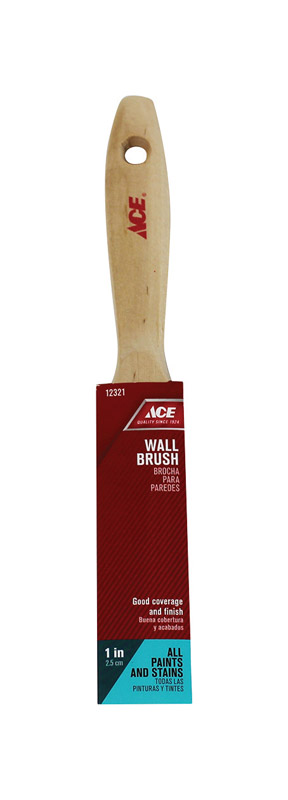 Ace  1 in. W Medium Stiff  Flat  Paint Brush  Polyester