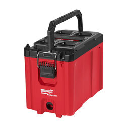 Milwaukee  PACKOUT  16.2 in. Compact  Tool Box  10 in. W x 13 in. H Black/Red
