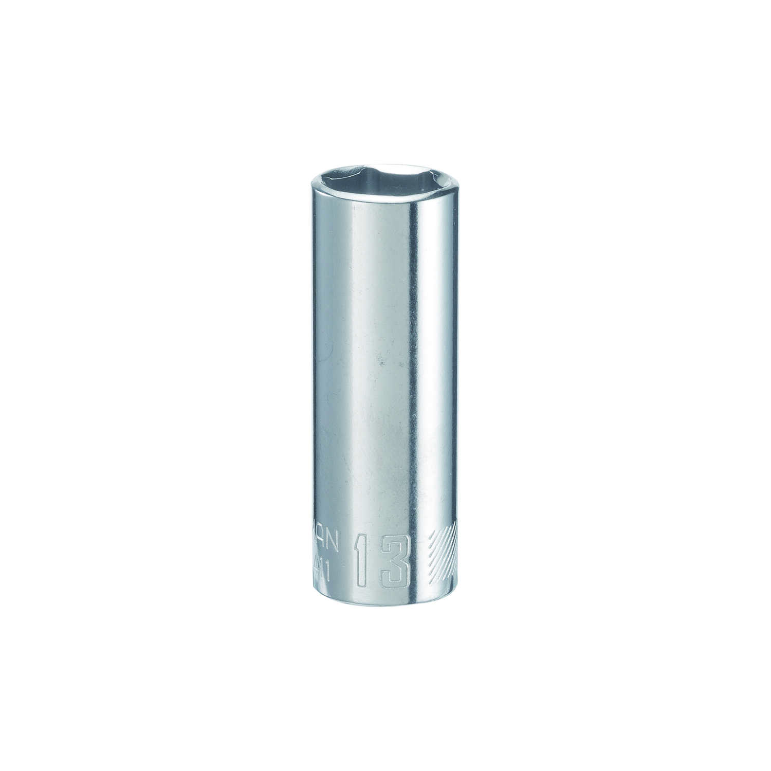 Craftsman  13 mm  x 1/4 in. drive  Metric  6 Point Deep  Socket  1 pc.