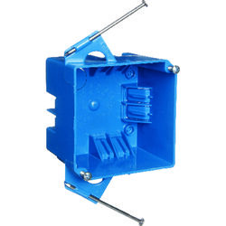 Carlon  4 in. Square  PVC  2 gang Junction Box  Blue