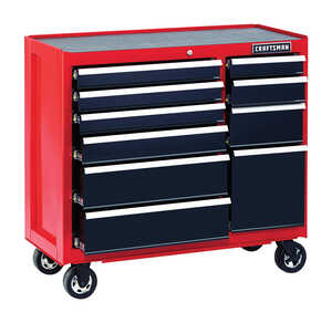 Craftsman  41 in. 10 drawer Metal  Rolling Tool Cabinet  18 in. D x 39-1/2 in. H Red/Black