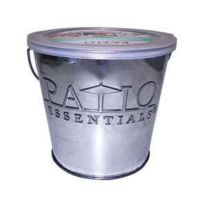 Patio Essentials  Galvanized  Candle Bucket  Wax  For Mosquitoes/Other Flying Insects 17 oz.