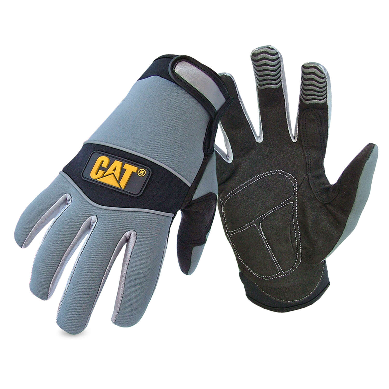 Caterpillar Men's Indoor/Outdoor Padded Mechanic's Glove Black/Gray XL 1 pair