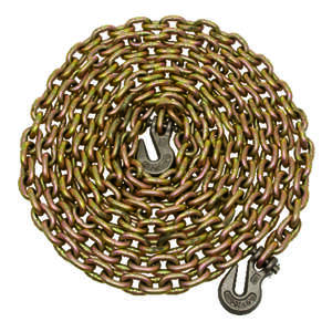 Campbell Chain  5/16 in. Oval Link  Carbon Steel  Chain  Yellow  5/16 in. Dia. x 20 ft. L
