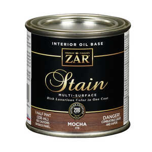 ZAR  Semi-Transparent  Semi-Gloss  Mocha  Oil-Based  Wood Stain  1/2 pt.
