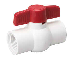 Mueller  Ball Valve  1/2 in. FPT   x 1/2 in. Dia. FPT  PVC  Ball