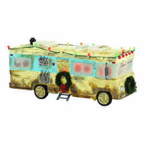Department 56  Christmas Vacation Cousin Eddie's RV  Village House  Multicolored  Porcelain  1 each