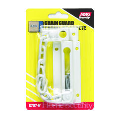 Prime-Line  3.31 in. L White  Steel  Chain Door Guard