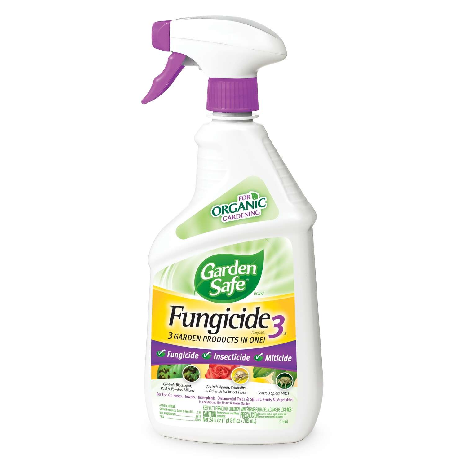 Garden Safe  Fungicide 3  Organic Concentrated Liquid  Fungicide  24 oz.