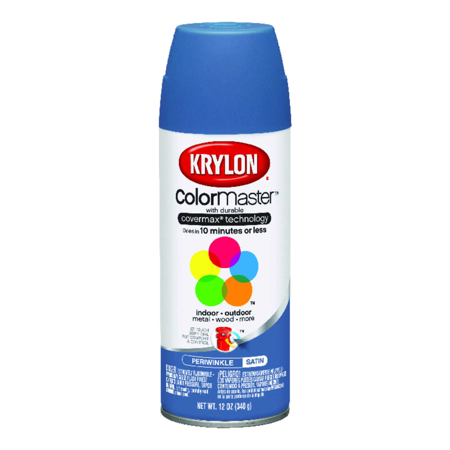Krylon  Satin  Smooth and Durable Paint  12 oz. Periwinkle