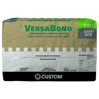 Custom Building Products  VersaBond  Gray  Thin-Set Mortar  25 lb.
