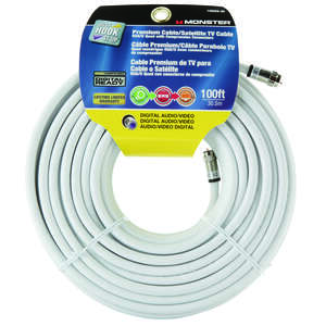 Monster Just Hook It Up  Just Hookit Up  Weatherproof Video Coaxial Cable  100 ft.