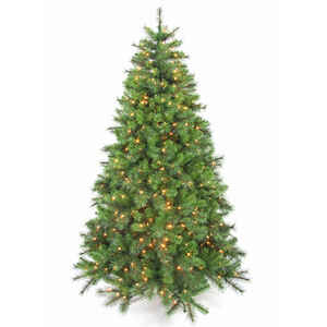 Celebrations  Clear  Prelit 7-1/2 ft. Concord  Artificial Tree  500 lights 1400 tips
