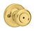 Kwikset  Mobile Home  Polished Brass  Steel  Privacy Knob  3  Right or Left Handed