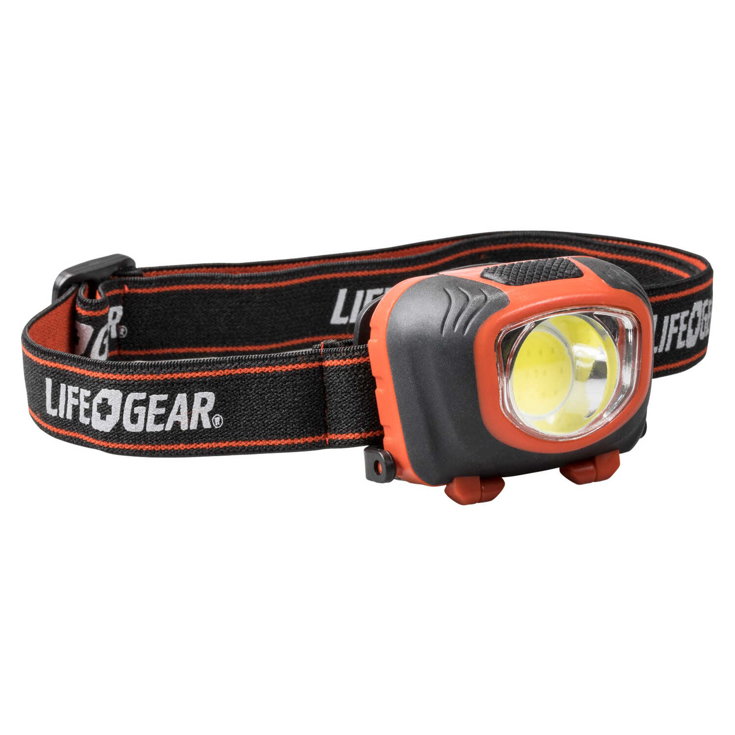 LIFE GEAR  Storm Proof  260 lumens Black/Red  LED  Head Lamp  AAA Battery
