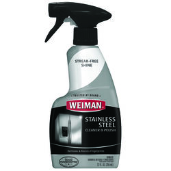Weiman Floral Scent Stainless Steel Cleaner & Polish 12 oz. Liquid