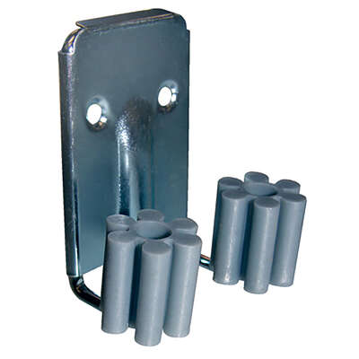Crawford Vinyl Coated Gray Plastic/Steel Grip Clip For 1/4 2 pk