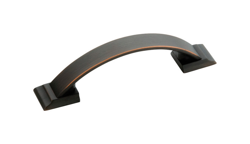 Amerock  Candler  Half Oval  Arch  Cabinet Pull  3 in. Oil-Rubbed Bronze  5 pk